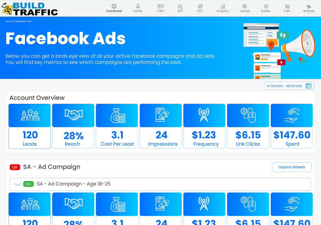 Facebook Ads Management Dashboard
